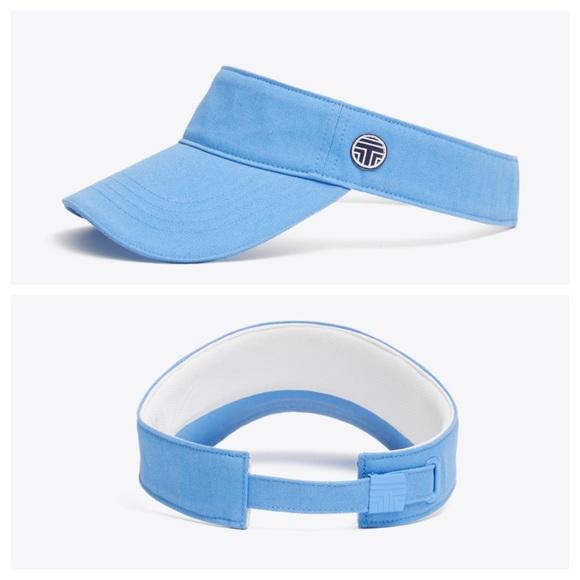 Tory Burch Accessories - TORY SPORT Blue Canvas Adjustable Sun Visor NWT